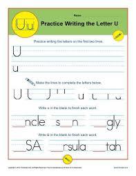 letter u worksheets printable handwriting worksheet