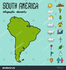 Maps Of South America Infographic Illustration Map South America Stock Vector 234553174