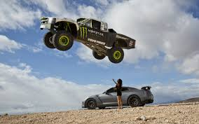 real monster truck videos video find godzilla and a trophy truck terrorize the desert