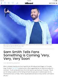 sam smith fan club sam smith the thrill of it all 2nd album page 6 the