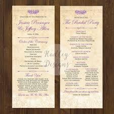 Wedding Ceremony Program Ideas Wedding Ceremony Programs Walmart Finding Wedding Ideas