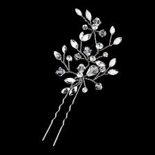 bridal hair pins austrian leaf wedding hair pin bridal hair