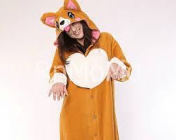 Sloth Animal Halloween Costume Corgi Pajamas Etsy