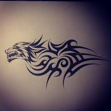tribal and wolf design with regard to tribal