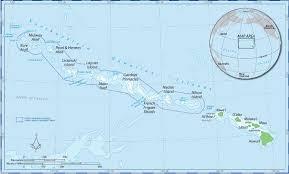 Map Hawaii Hawaiian Islands National Wildlife Refuge Hawaii National