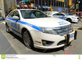 nypd ford fusion nypd ford fusion hybrid car in nyc editorial stock photo