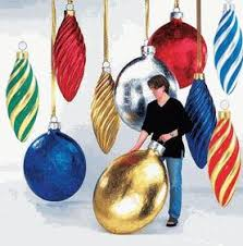oversized ornaments from outdora oh tree
