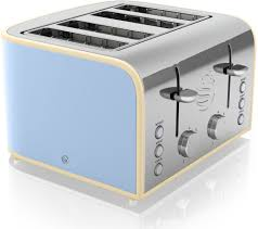 Best Buy Toasters 4 Slice Buy Swan Retro St17010bln 4 Slice Toaster Blue Free Delivery