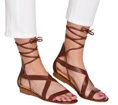 c wonder lace up leather gladiator sandals lyla page 1 u2014 qvc com