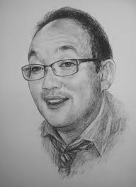 my istudio hand drawn charcoal pencil portrait drawing sketch