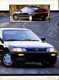 Honda Crx 1987 Vintage Road Tests Honda Crx Si Mazda Mx 6