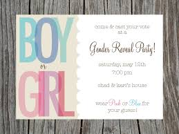 fancy gender reveal party invitation card with cream and white