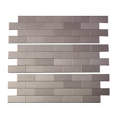 Peel And Stick Matted Metal Backsplash Tiles Aspect - Aspect backsplash tiles