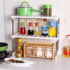 easy home expandable under sink shelf 2 tier expandable adjustable under sink shelf storage shelves