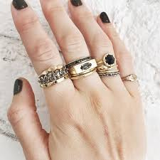 cool rings images Cool spotting layering stacks of chunky rings glitter inc jpg