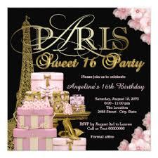 paris sweet 16 birthday party invitations u0026 announcements zazzle