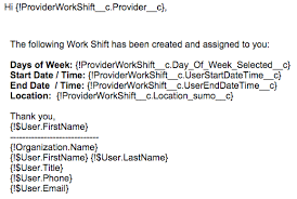 work shift email templates sumo support