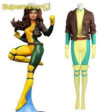 Men Rogue Halloween Costume Aliexpress Buy Men Rogue Costume Cospaly Marvel Comics