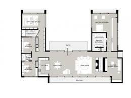 house plans with pool astounding u shaped house plans with pool in middle images design