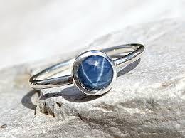 star sapphires rings images Star sapphire engagement ring delicate sapphire ring jpg