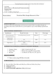 simple resume format download free simple resume format in word resume format download in ms word
