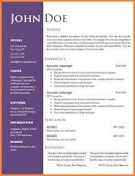 Resume Templates Word 2007 Free Resume Templates For Word 2007 Free Resumes Templates For