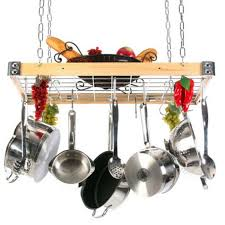 Hanging Pot Rack In Cabinet by Interior Arrange Your Cookware In Style With Pots And Pans Rack