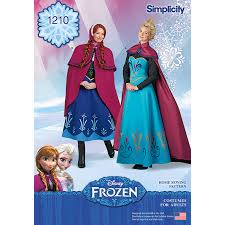 Frozen Costume Simplicity Sewing Pattern Frozen Costume U2013 1210 Shine