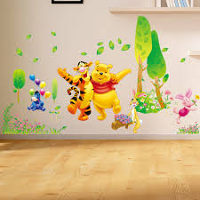 wall stickers for kids room decorations animal decals bedroom decor winnie the pooh wall decals kids bedroom baby nursery