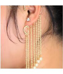 cuff earrings pearl drop ear cuff at rs 850 pair s cuff earrings earring