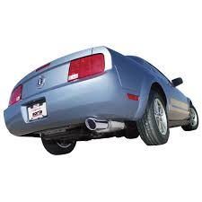 axle back exhaust mustang v6 borla 11751 mustang axle back exhaust system stainless steel 2 1 2