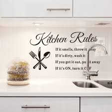 Home Letters Decoration by Diy Kitchen Rules Wall Stickers Removable Quotes Living Room