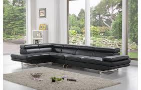 canapé home salon canapé en cuir design et moderne de couleur noir teck in home