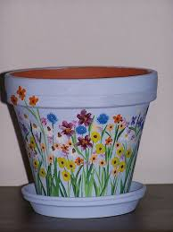 Flower Pots - best 25 painting clay pots ideas on pinterest painted flower