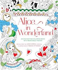 alice wonderland coloring book dover classic stories coloring