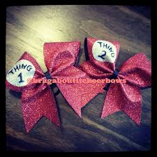 cheer bows uk items similar to glitter thing 1 thing 2 cheer bows on etsy