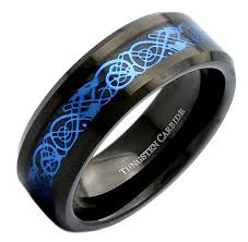 blue titanium wedding band 8mm unisex or men s wedding band black resin inlay sky blue