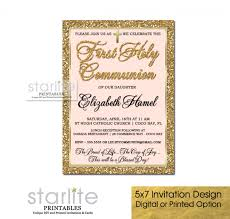 communion invitations for girl blush pink and gold glitter communion invitation girl