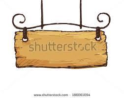 vector sketch retro sign board wooden stock vector 186061094