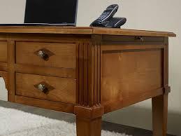 bureau en merisier bureau ministre 5 tiroirs en merisier massif de style directoire