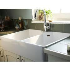 evier cuisine 2 bacs gres évier en grés à poser office blanc castorama 199 cuisine