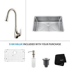 Kitchen Faucet Discount Stainless Steel Kitchen Sink Combination Kraususa Com