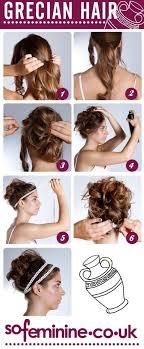 greek goddess hairstyles for short hair diy grecian hairstyle beauty pinterest grecian hairstyles