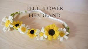 felt headbands how to make felt flower headband