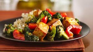 cuisiner tofu poele recette tofu à l orange et au sésame avec brocoli circulaire en ligne