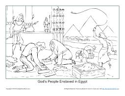 god u0027s people enslaved in egypt coloring page children u0027s bible