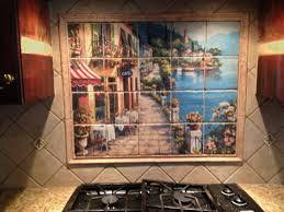 Kitchen Tile Backsplash Murals Backsplashes Custom Ceramic Tiles With Ceramic Tile Mural