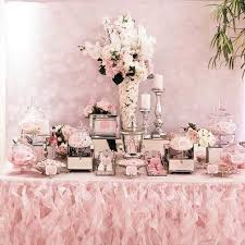 Flower Table L Pink White And Silver Dessert Table Buffets L Sweetie