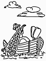 coloring pictures of fishermen fish coloring pages free