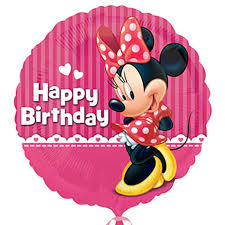 deliver balloons cheap bulk happy birthday minnie foil balloons 18 in at dollartree